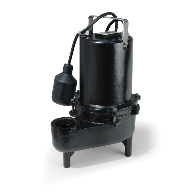 Ecoflo  Cast Iron  Sewage Pump  1/2 hp 7800 gpm 115 volt