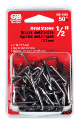 Gardner Bender  1/2 in. W Metal  Insulated Cable Staple  50 pk