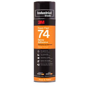 3M  Foam Fast 74  Super Strength  Synthetic Polymer  Adhesive  16.9 oz.