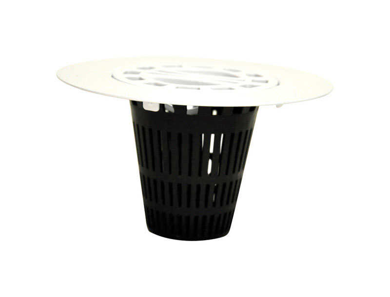 Danco  4.25 in. Black  Polished  Plastic  Round  Shower Drain Strainer