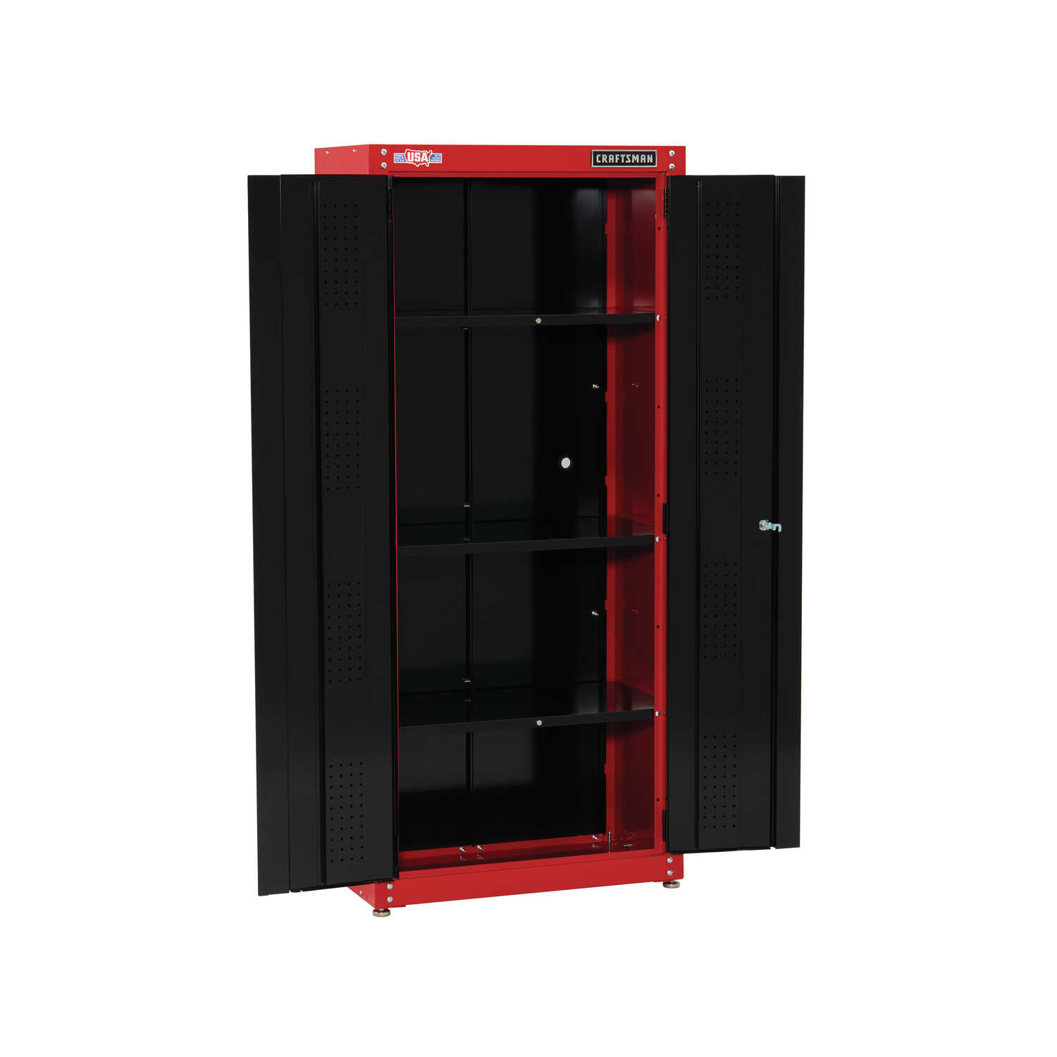 Craftsman  74 in. H x 32 in. W x 18 in. D Black/Red  Steel  Storage Cabinet