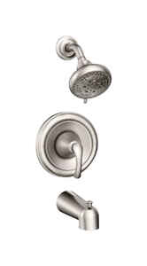 Moen  Tiffin  1 Handle  Tub and Shower Faucet  Brushed Nickel  Metal