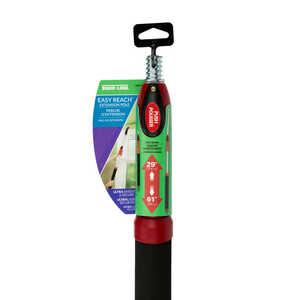 Shur-Line  30-60 in. L x 1 in. Dia. Aluminum  Extension Pole  Black/Red  Black/Red
