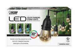 FEIT Electric  Decorative  Color Changing  String Light Set  30 ft.
