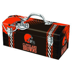 WIndco  16.25 in. Steel  Cleveland Browns  Art Deco Tool Box  7.1 in. W x 7.75 in. H