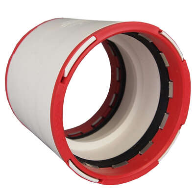 Charlotte Pipe ConnecTite Schedule 40 1-1/2 in. Hub x 1-1/2 in. Dia. Hub PVC Coupling