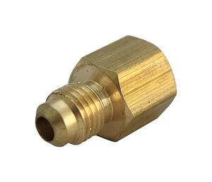 JMF  3/8 in. Flare   x 3/8 in. Dia. FPT  Brass  Adapter