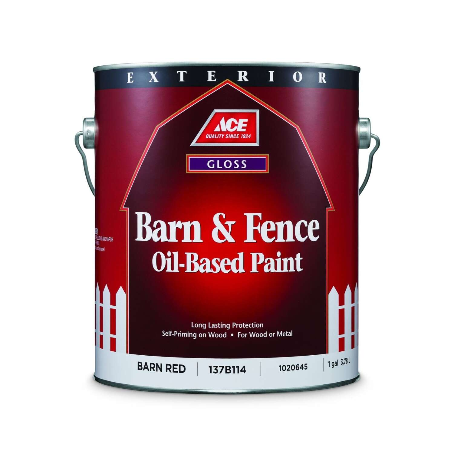 Ace  Gloss  Barn Red  Oil-Based  Barn and Fence Paint  Exterior  1 gal.