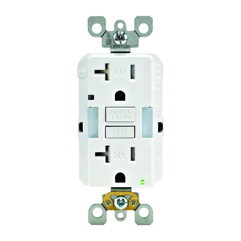Leviton 20 Amps 125 Volt Duplex White Gfci Outlet 5