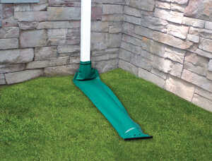 Frost King  Drain Away  7 in. H x 8 ft. L x 7 in. W Green  Plastic  Downspout Extension  K