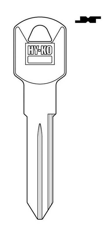 Hy-Ko  Automotive  Key Blank  EZ# B92  Double sided For Fits Many 2005 And Older Ignitions