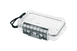 Ace  1-7/8 in. L x 4-7/16 in. W x 7-7/16 in. H Waterproof Case  Plastic  Clear