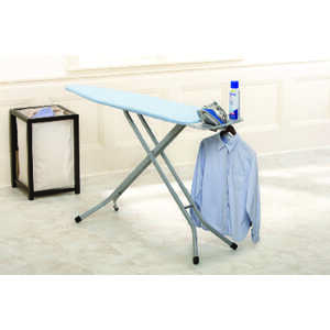 Homz  40.5 in. H Steel  Pad Included Ironing Board