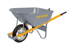 True Temper  Steel  Residential Wheelbarrow  6 cu. ft.