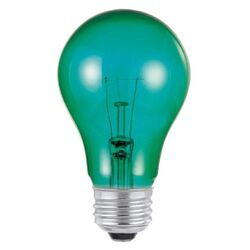 Westinghouse  25 watts A19  A-Line  Incandescent Bulb  E26 (Medium)  Green  1 pk
