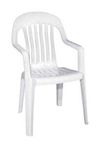 Adams  White  Polypropylene  High-Back  Chair