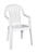 Adams  1 pc. White  Polypropylene Frame High-Back  Chair  White