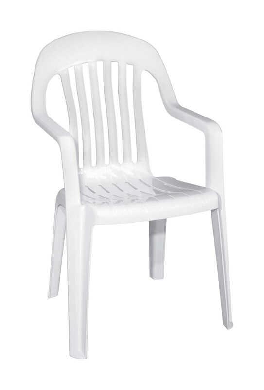 Adams White Polypropylene High Back Chair Ace Hardware