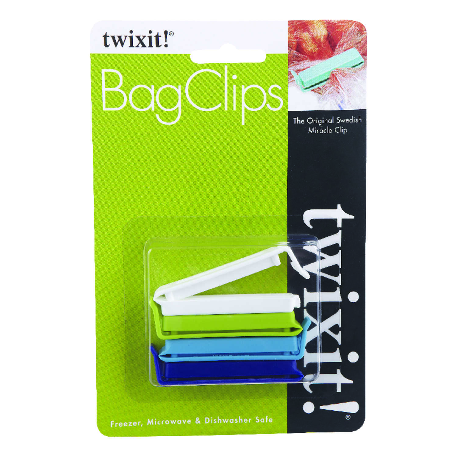 Twixit  2-1/2 in. L Multicolored  Bag Clips