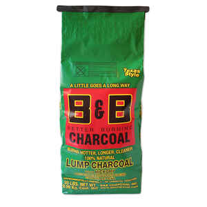 B&B Charcoal  All Natural Hickory  Lump Charcoal  20 lb.