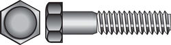 Hillman 3/8 in. Dia. x 4-1/2 in. L Zinc Plated Steel Hex Bolt 50 pk