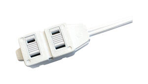 Ace  Indoor  9 ft. L White  Extension Cord  16/2 SPT-2