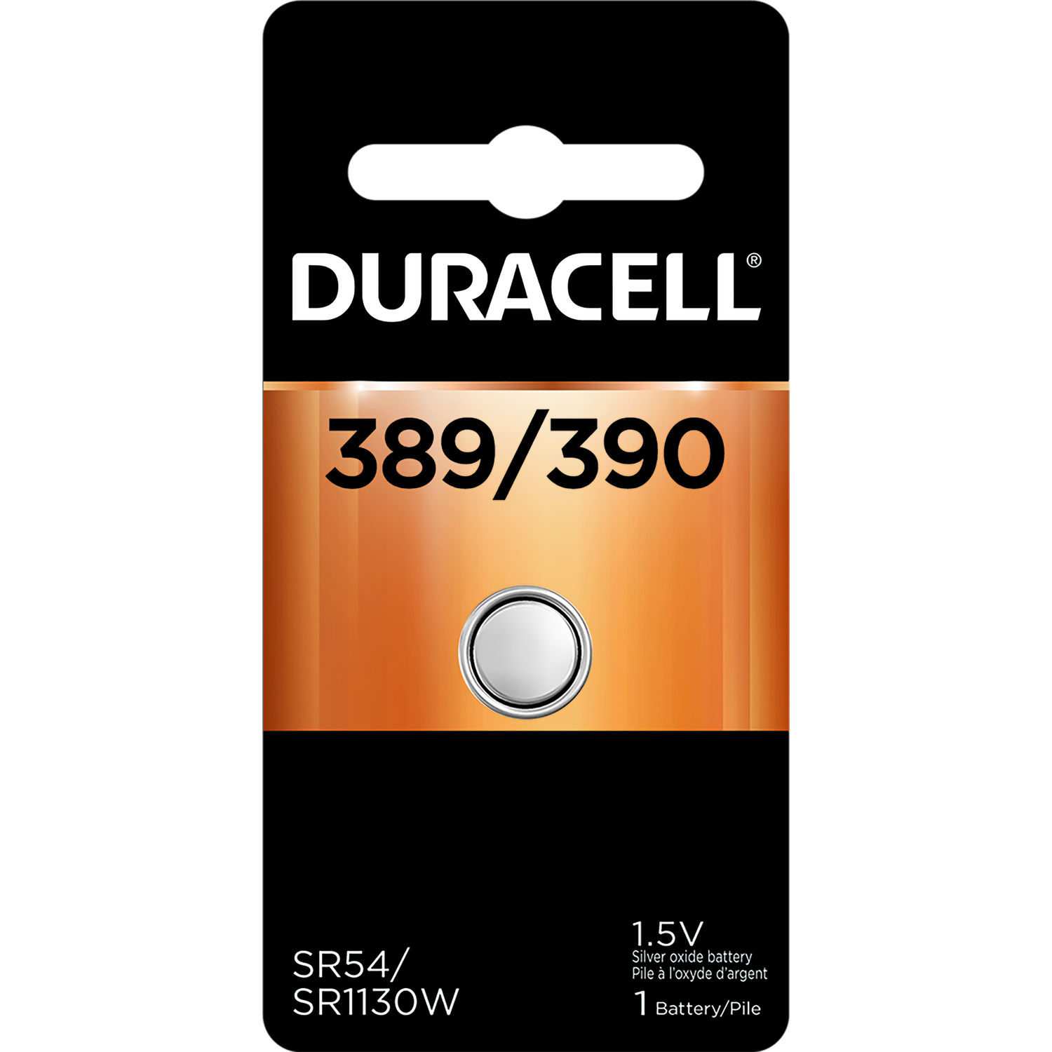 Duracell  Silver Oxide  389/390  Electronic/Watch Battery  1 pk