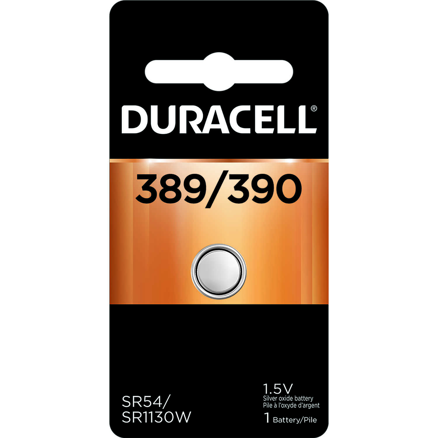 Duracell  Silver Oxide  389/390  1.5 volt 1 pk Electronic/Watch Battery