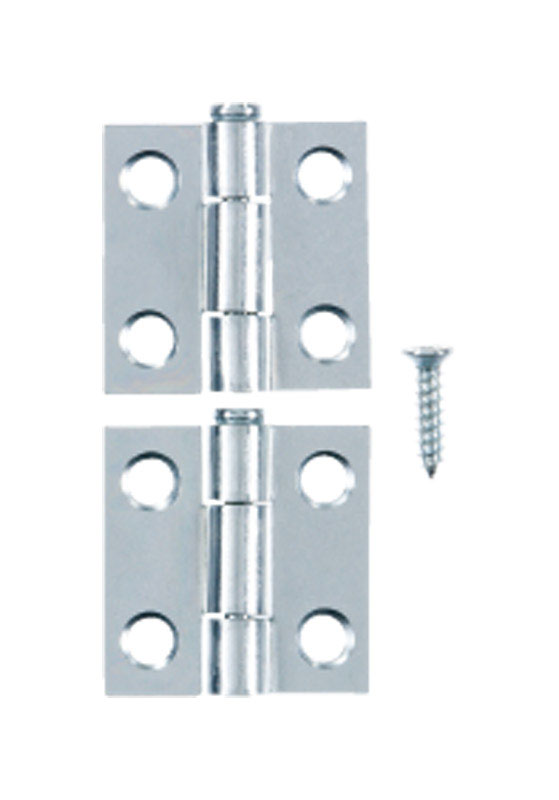 Ace  2.750 in. W x 1 in. L Chrome  Steel  Narrow Hinge  2 pk