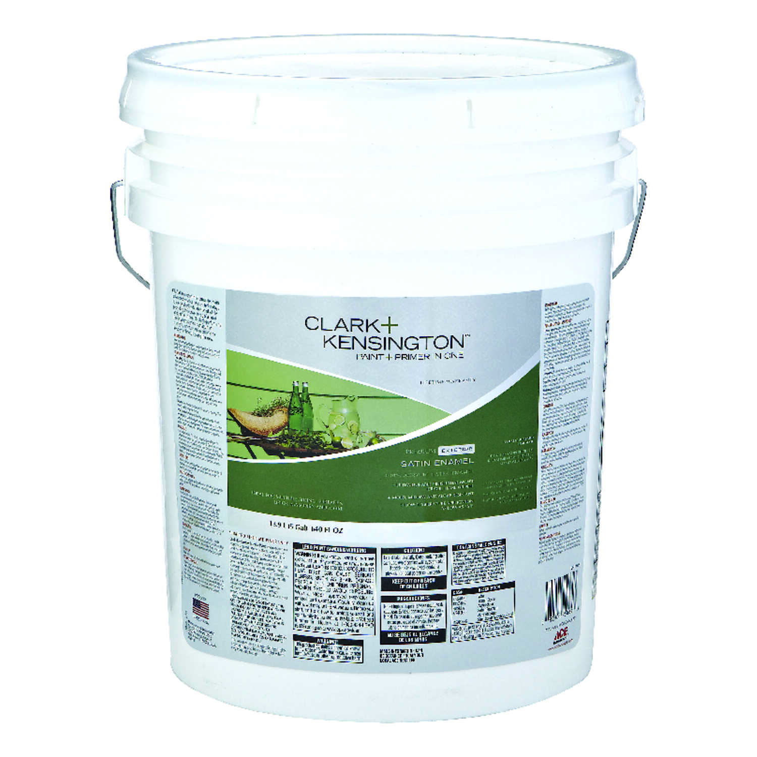 Clark+Kensington  Satin  Tintable Base  Neutral Base  Acrylic Latex  House/Trim Paint  5 gal.