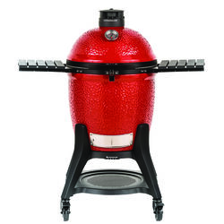 Kamado Joe  Classic III  Charcoal  Kamado  Grill  Black/Red  47 in.