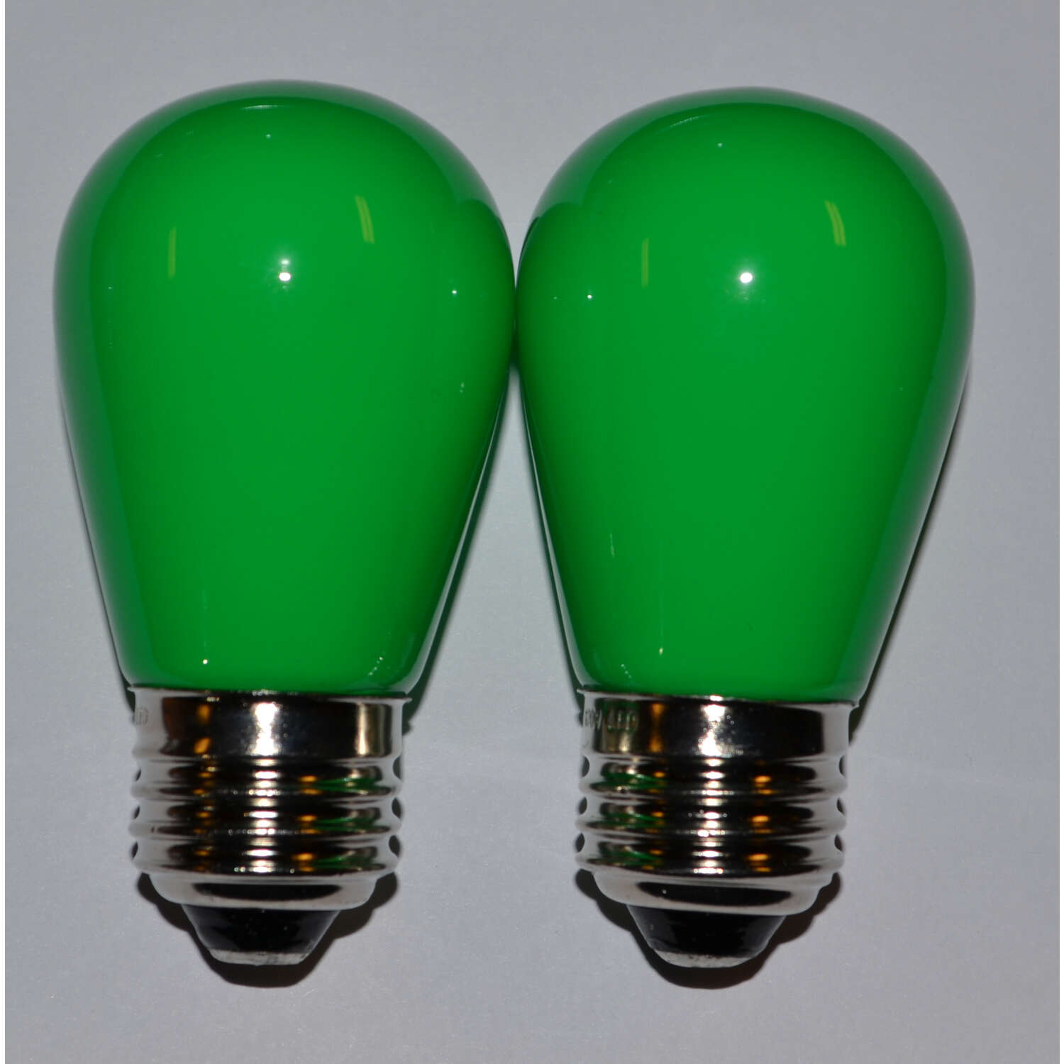 Holiday Bright Lights  LED  S14  Green  2 count Replacement  Christmas Light Bulbs