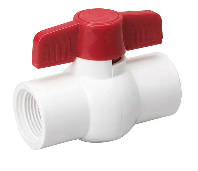 Mueller  Ball Valve  2 in. FPT   x 2 in. Dia. FPT  PVC  Ball