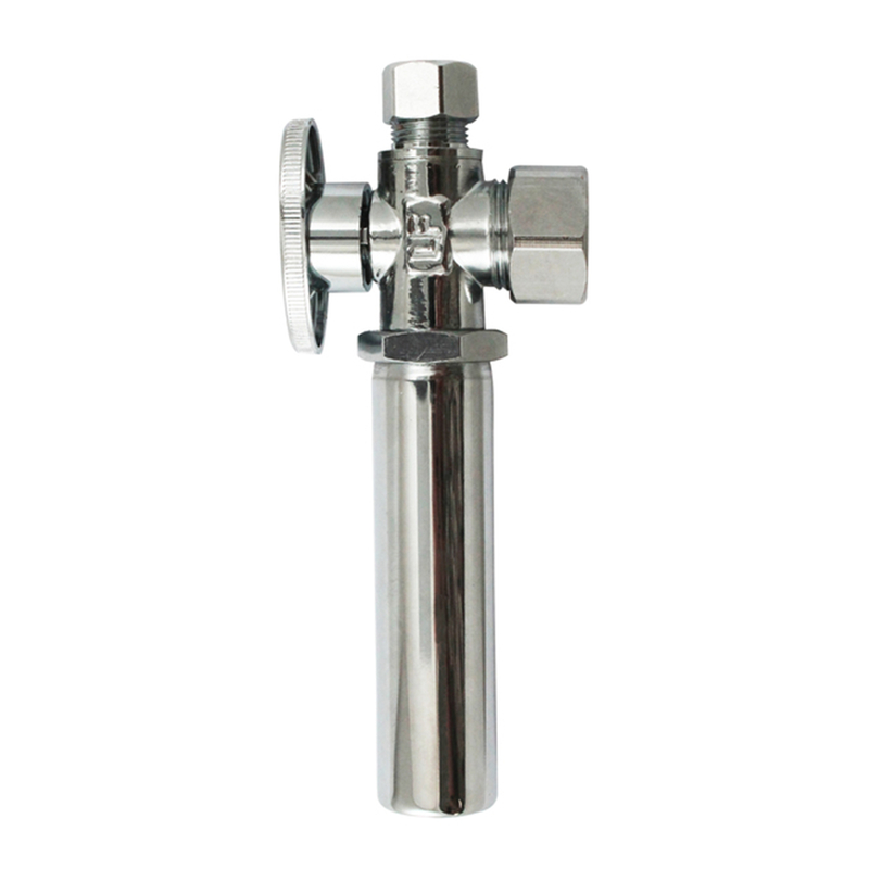 Keeney  5/8 in. Dia. x 3/8 in. Dia. x 3/8 in.  Ball  Shut-Off Valve With Water Hammer  Brass