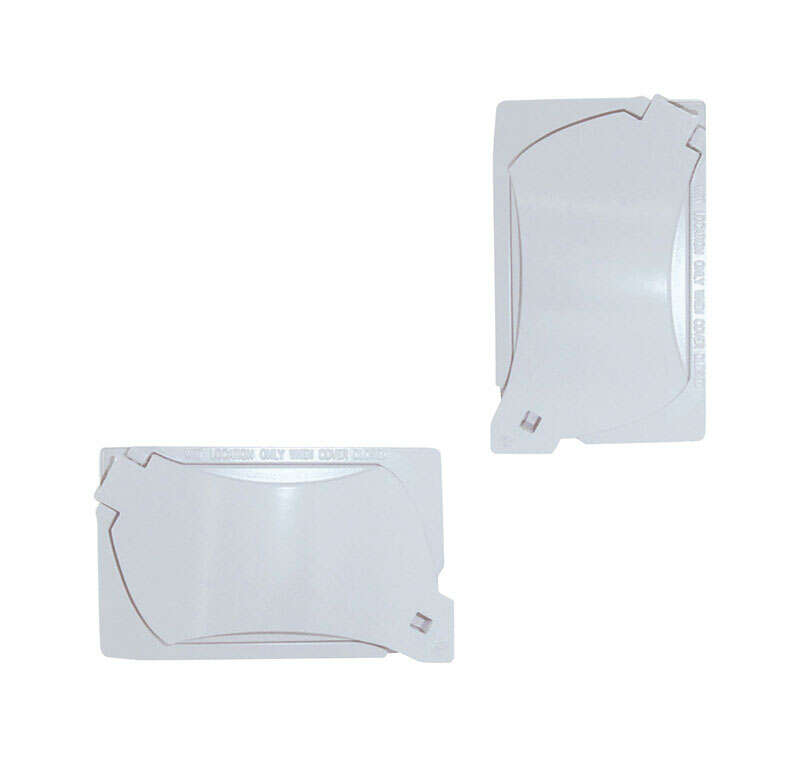 Sigma  Rectangle  Aluminum  1 gang Universal Cover  For Wet Locations