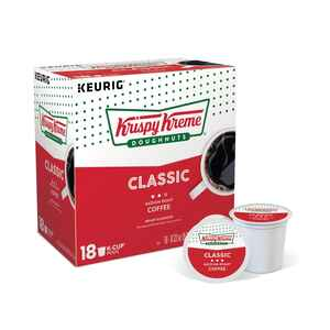 Keurig  Krispy Kreme  Classic Medium Roast  Coffee K-Cups  18 pk