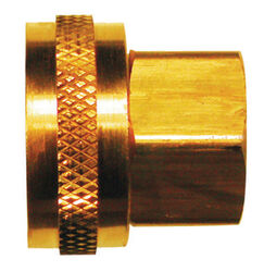JMF Brass 3/4 in. Dia. x 1/2 in. Dia. Hose Adapter Yellow 1 pk