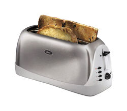 Oster  Stainless Steel  Silver  4 slot Toaster  7.3 in. H x 6.9 in. W x 16 in. D