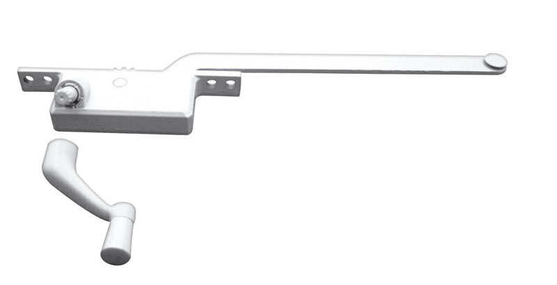 Prime-Line  White  Steel  Right  Single-Arm Casement  Window Operator  For Steel Framed Windows