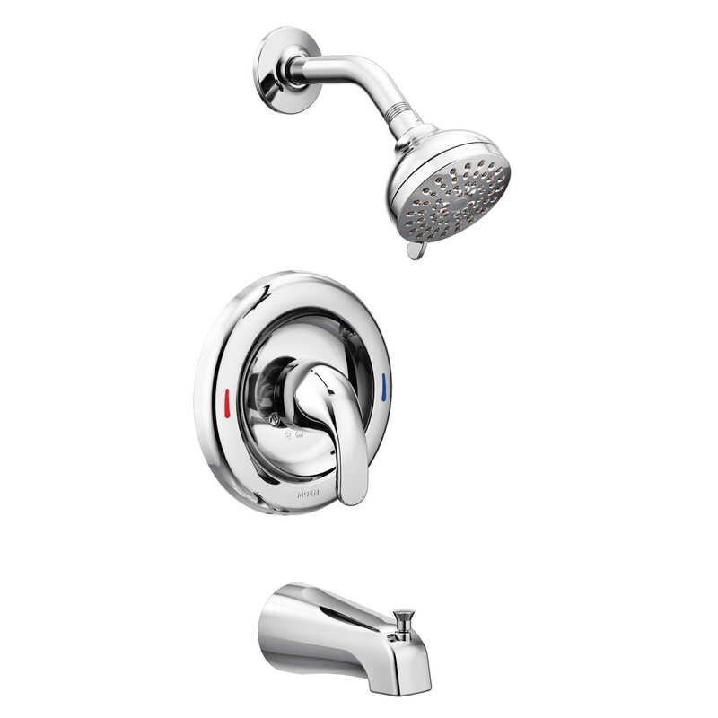 Moen  Adler  1 Handle  Tub and Shower Faucet  Chrome  Metal