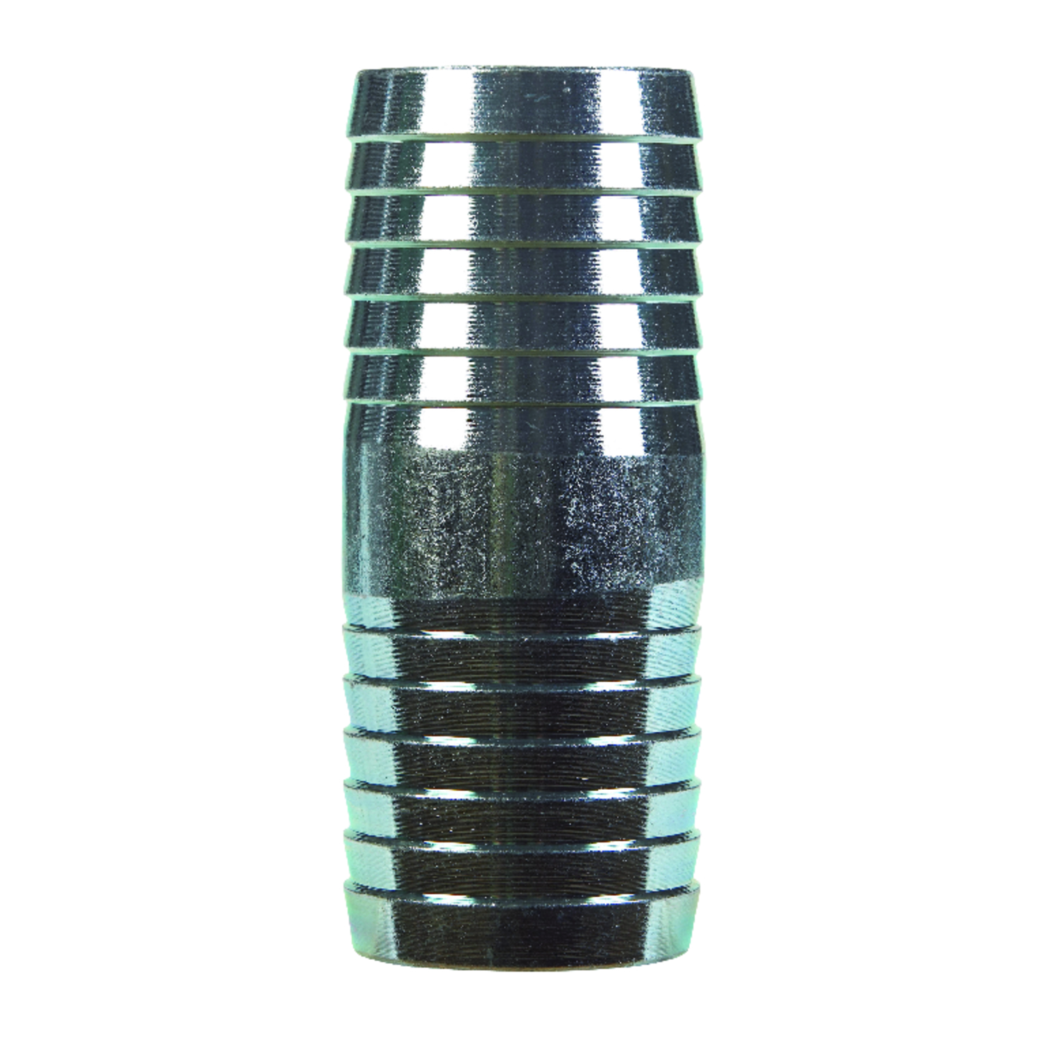 B & K  1-1/2 in. Barb   x 1-1/2 in. Dia. Barb  Galvanized  Galvanized Steel  Coupling