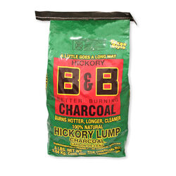 B&B Charcoal All Natural Hickory Lump Charcoal 8 lb.