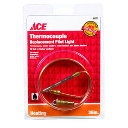 Ace  36 in. L 24 volt Millivolt Universal Thermocouple