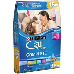 Purina  Cat Chow Complete  Chicken  Dry  Cat  Food  16 lb.
