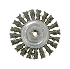 Weiler  Vortec Pro  4 in. Twisted  Wire Wheel Brush  Carbon Steel  20000 rpm 1 pc.