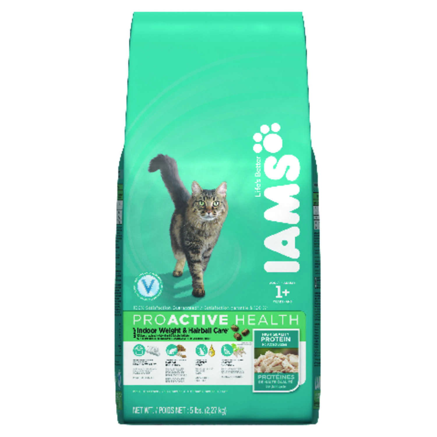 Iams  ProActive Health Indoor Weight & Hairball Care  Natural  Dry  Cat  Food  5 lb.