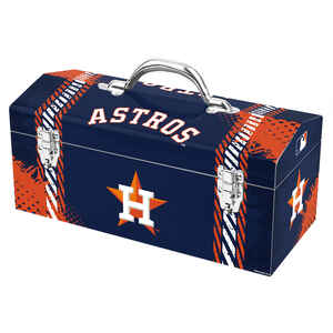 Windco  16.25 in. Steel  Houston Astros  Art Deco Tool Box  7.1 in. W x 7.75 in. H