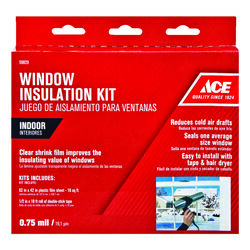 Ace Clear Plastic Window Insulation Kit For Windows 62 in. L x 0.75 ml