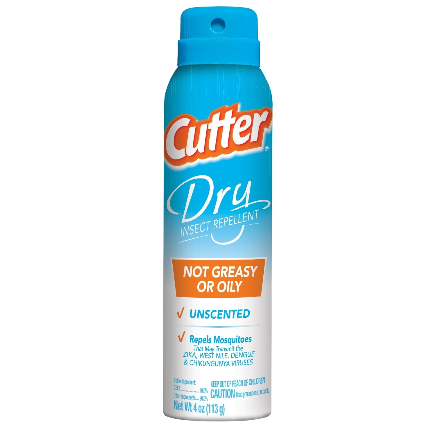 Cutter  Dry  Insect Repellent  Liquid  For Mosquitoes 4 oz.