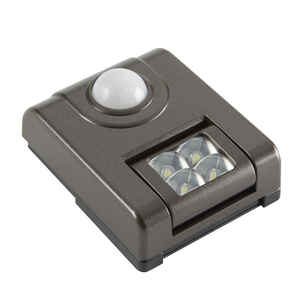 Fulcrum  LIGHT IT  2 in. L Bronze  Battery Powered  LED  Motion Sensor Task Light  24 lumens